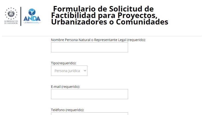 Procedimiento y Formulario para solicitar Factibilidad